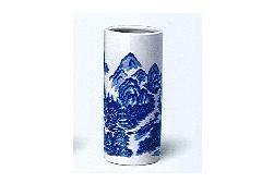 ◇花瓶 白山水投入 7.0寸