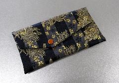 □数珠入・念珠袋 西陣織 龍と桜 A