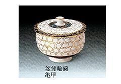 ◇九谷焼輪椀 蓋付湯呑 亀甲 1ヶ箱入