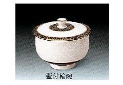 ◇九谷焼輪椀 蓋付湯呑 白七宝 1ヶ箱入