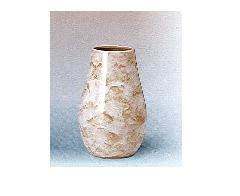 △花瓶・花立 大理石調下太花瓶 8.0寸 ベージュ×一対(2本)入