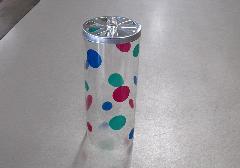 ●提灯用部品 回転筒 クリア水玉 大 1個