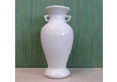 △花瓶・サギ型花立 白無地サギ 8.0寸×1対(2ヶ)