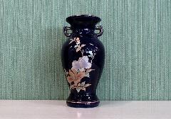 ◇花瓶・サギ型花立 ルリ木蓮サギ 7.0寸