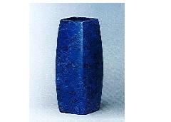 △花瓶・花立 大理石調角太投入 9.0寸 ブルー×1対(2ヶ)