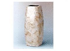 △花瓶・花立 大理石調角太投入 9.0寸 ベージュ×1対(2ヶ)