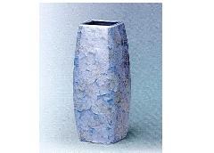 △花瓶・花立 大理石調角太投入 9.0寸 グリーン×1対(2ヶ)