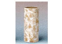 △花瓶・花立 大理石調投入 9.0寸 ベージュ×1ケース(12ヶ)