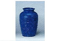 △花瓶・花立 大理石調夏目花瓶 5.0寸 ブルー×1対(2ヶ)