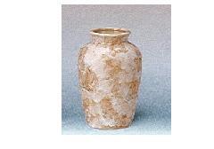△花瓶・花立 大理石調夏目花瓶 5.0寸 ベージュ×1対(2ヶ)