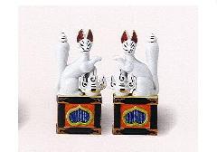 ◇稲荷(狐) 5.0寸 対(左右)セット×1ケース(2セット)