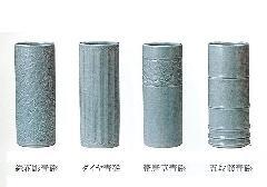 ◇花瓶・花立 青磁 総花彫・ダイヤ・帯唐草・五段節 10号