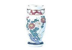◇花瓶・サギ型花立 赤絵 6.0寸