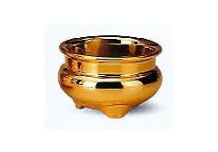 △机上香炉 金メッキ 2.5寸×1ケース(10ヶ入)