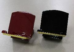 ◇木製 低見台 3.5寸 押さえ付 黒・タメ