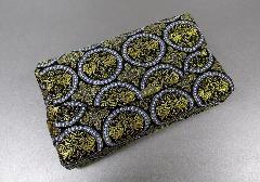 ●和柄バッグ 経本数珠入・マチ付バック 西陣織 黒