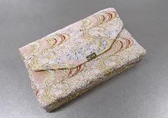 ■和柄バッグ 経本数珠入・マチ付バック 西陣織 ベージュ