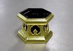 ■木製金箔六角リン台 2.5号 浄土真宗本願寺派(西)用 ※在庫処分特価品