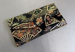 □念珠袋 西陣織 鶴・扇子柄