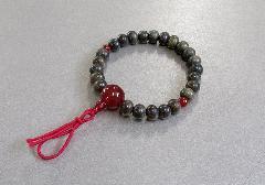 □腕椀念珠 緑檀赤瑪瑙仕立  ※在庫処分特価品