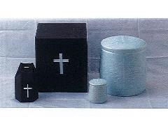 ◇骨壷・骨壺 キリスト用骨壷・骨箱・分骨壷セット 6.0寸