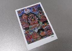 ☆仏画ポストカード H32 釈迦伝 ※訳アリ品