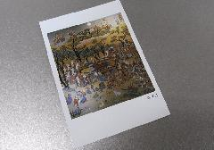 ☆仏画ポストカード H52 涅槃図 ※訳アリ品