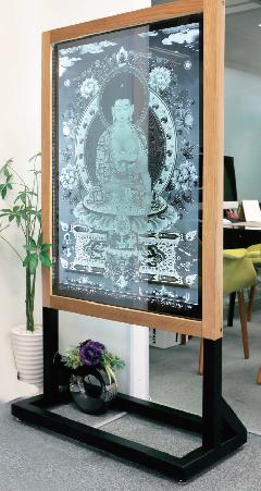 ★オーダーメイド 特大ガラスレーザー彫刻 特大 LED照明