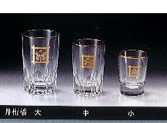 △ガラスコップ 井桁橘 大×1ケース(12ヶ)