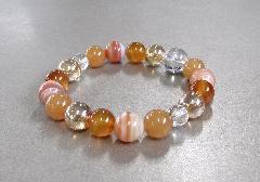 ★五貴石ブレス オレンジ