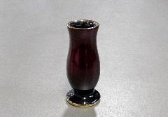 ★さやか線香差 陶器漆ワインレッド カシュー塗