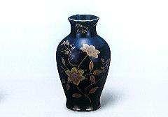★美濃焼花瓶 黒鉄仙尺0花瓶 木箱入