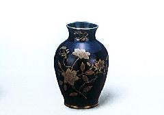 ★美濃焼花瓶 黒鉄仙8号花瓶 木箱入