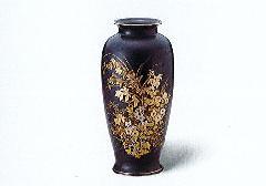★美濃焼花瓶 10号天目サツマ型金秋草花瓶