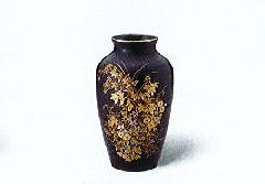 ★美濃焼花瓶 7号天目カメ型金秋草花瓶