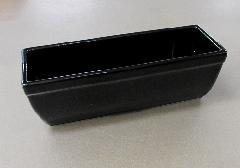 △長角香炉 6.0寸 黒無地×1ケース(10ヶ入)