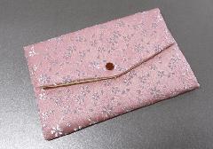 ☆西陣織 高級金襴 マスクケース 桜 ピンク 日本製