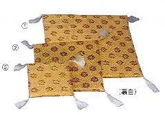 ☆骨座布団 金襴小菊 �B15×15