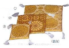 ☆骨座布団 金襴大菊 �A22×22