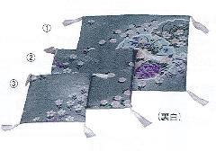☆骨座布団 友禅 水色 �A22×22