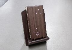 ★過去帳・見台セット 木製過去帳さくら3.5寸、扇型過去帳台 ウォールナット