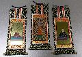 ●仏壇用掛軸 オリジナル 浄土真宗本願寺派(西)絵 三幅 25×11.5�