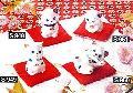 ◇福福招き猫 (磁器) 福招き・お願い・いらっしゃいませ・果報は寝て待て 4個セット