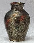 ★美濃焼花瓶 吹錦雲母8号花瓶 木箱入