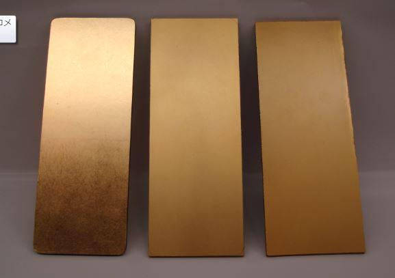 金箔と金粉仕上げのサンプル