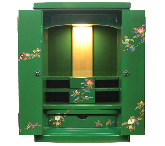 輪島塗仏壇「青漆」画像1