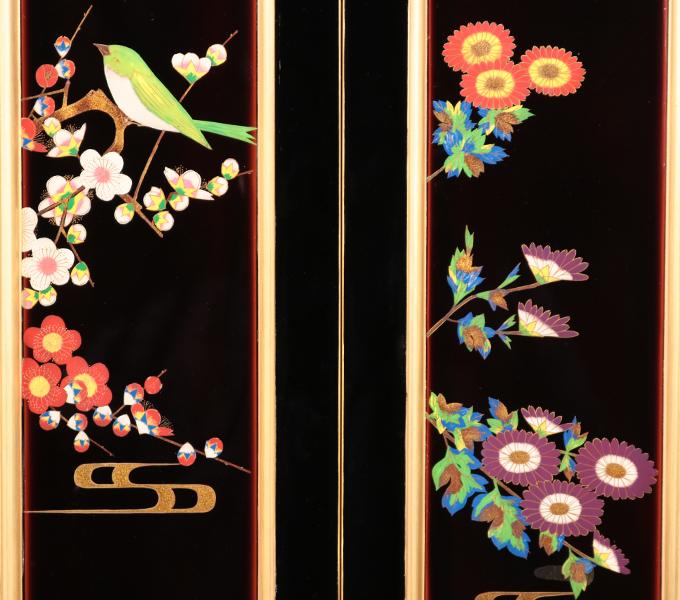 準輪島塗仏壇−蒔絵1