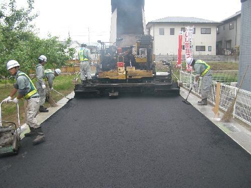 長野市 道路のアスファルト舗装