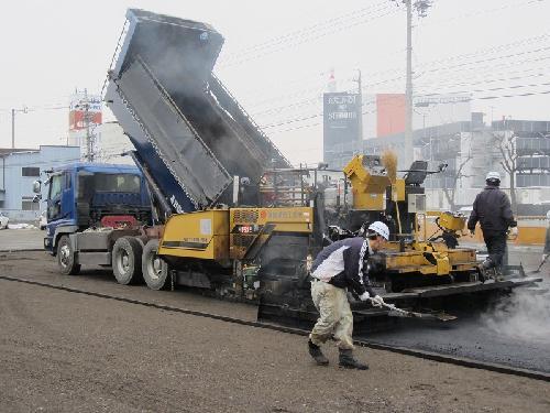 長野市 駐車場のアスファルト舗装