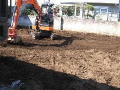 東京都三鷹市 解体工事後の整地工事